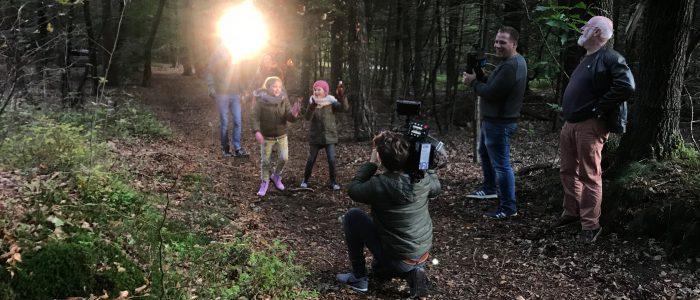 Videoproductie in het bos